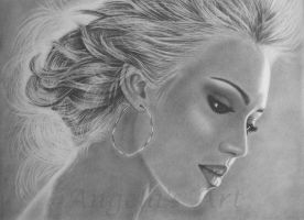 JESSICA ALBA by AngelasPortraits