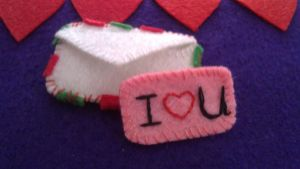 My felt works - envelope with love message by EvaHuynh
