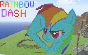 Minecraft Rainbow Dash by TheCat101