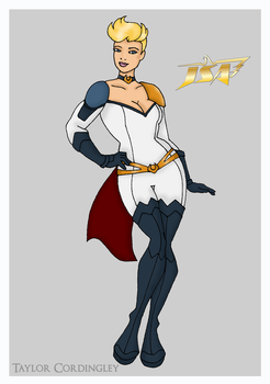 Justice Society - Power Girl Redesign by Femmes-Fatales