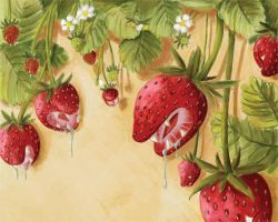 Surreal Strawberries by draike