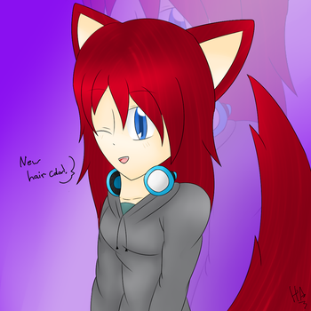 Huffie's New Hair Color!! by Huffie-Artist