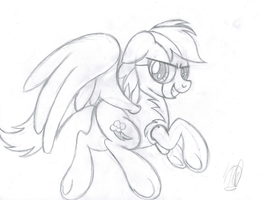 Rainbow Dash's Destiny (Sketch) by drawponies