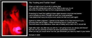 My Trusting and Foolish Heart by VisualPoetress