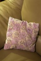 Two Sides of the Cat Pillow by Hannah-Needle