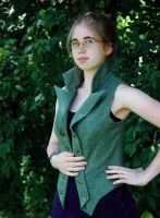 Steampunk Vest - Buttoned Back by Goldenspring
