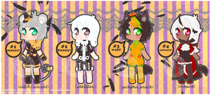 Halloween adopts - CLOSED by NauticalSparrow
