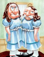 Statler and Waldorf as the Twins in The Shining by theCreativeRoy