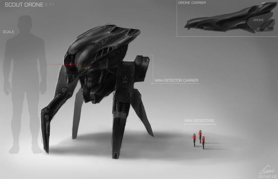 SCOUT DRONE DESIGN/CONCEPT ART by nobody00000000