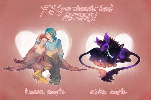 quick valentines YCH AUCS - finished omg by quislings