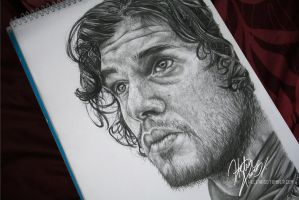 Jon Snow Drawing by Helenhsd