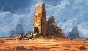 Desert Tomb by InterstellarDeej