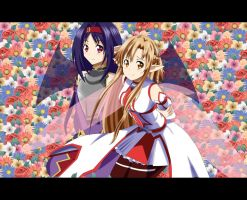 .: SAO : Asuna and Yuuki :. by Sincity2100
