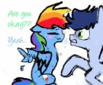 Messy Dashie meets Soarin [filly] by Jauhepitsaliha