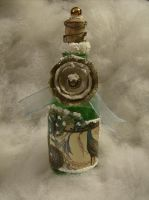 Victorian Inspired Winter Wishing Jar by timewhorl
