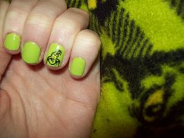 Grinch Nails by ffishy21