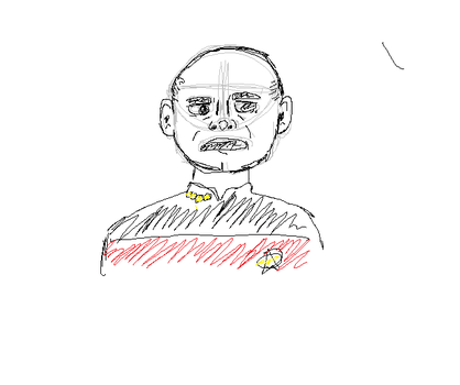 a fast sketch doodle of capt. picard by rosey-the-fox