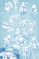 Drowning in Skeletons by minteaparty