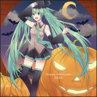 Miku Hatsune - Happy Halloween 2011 by jaerika
