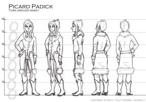 Picard Turnaround WIP (ALSO UPDATES ON ART) by AlfaFilly
