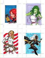 Marvel Dangerous Divas cards 2 by SpiderGuile