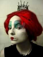 Red Queen make up test by snowyblackrose