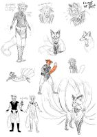 Jay kitsune sketches by Sferath