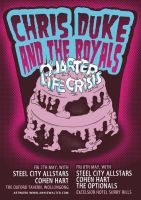 CDATR Gig Poster... with cake by my-name-is-annie
