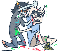 Homestuck - Fight by SquirrelTamer