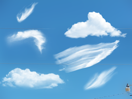 Photoshop Cloud Brush Pack by darkdissolution