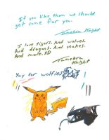 DOODLES AND NOTES  XD by Werewolf-Krai