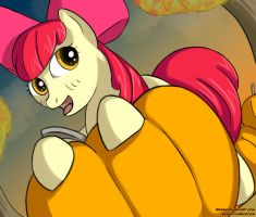 Apple Bloom in a Pumpkin Patch by Reashi
