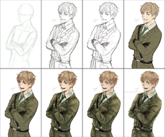 Painting Process: APH England by Mano-chan