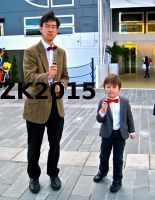 The 11th Doctor and young 11th Doctor by ZeroKing2015
