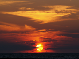 Red Sunset on Presque Isle by SolStock