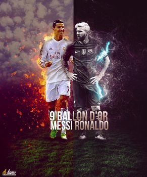 messi ronaldo by M-A-G-F-X-Graphic