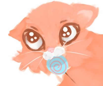 Candy Kitty 5 minutes Doodle by Fizzerz