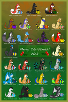 Christmas Adoptables 2012 by iFoxSpirit