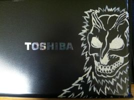 Custom Laptop: The Demon by TheDragonSensi