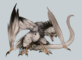 CE - Dragon X Harpy eagle by 1-084