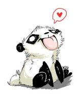 Panda Luv by kidbrainer