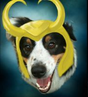 Loki Norse Dog of Mischief by MudgetMakes