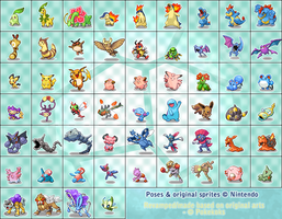 Some sprites by Pokekoks