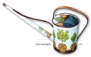 nini's watering pot by Ninina-nini