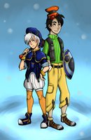 KH - Humanized Donald and Goofy by EsuNeh