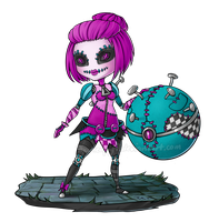 Orianna Sewn Chaos Chibi by 7guineapig7