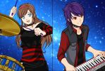Naomi and Sol (Band Pic #2) by Pana-sule