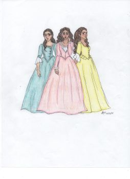 The Schuyler Sisters by MaedhrosMignonette