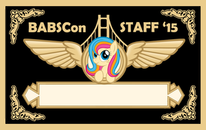 BABSCon 2015 Staff Badge by SouthParkTaoist