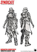Syndicate Fan Concept Art to be 3D Game Model by MDreed